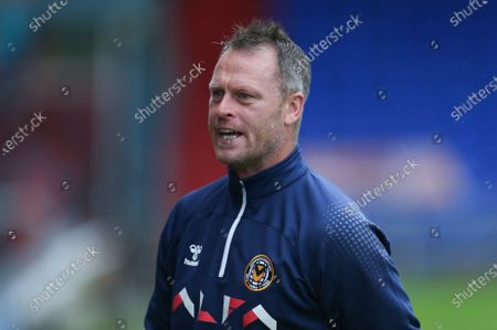 Newport County manager Michael Flynn at the start of the match