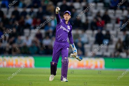 John Simpson of Northern Superchargers during the The Hundred match between Southern Brave and Northern Superchargers at the Ageas Bowl, Southampton