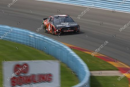 Ryan Newman turns in to the Esses during a NASCAR Cup Series auto race in Watkins Glen, N.Y., on