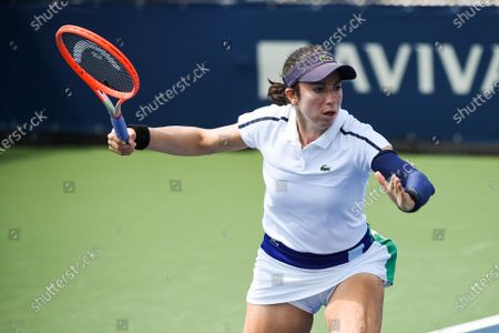 Look on Christina McHale (USA) during the WTA National Bank Open qualifying round match at IGA Stadium in Montreal, Quebec