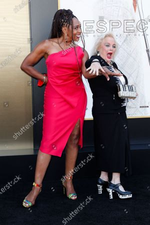 Dawnn Lewis (L) and US singer-songwriter Carol Connors (R) attend the premiere of 'Respect' at the Regency Village Theatre in Los Angeles, California, USA, 08 August 2021. The movie will be released in US theaters on 13 August 2021.
