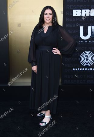 """Stacey Sher arrives at the Los Angeles premiere of """"Respect"""" at the Regency Bruin Theater on in Westwood, Calif"""