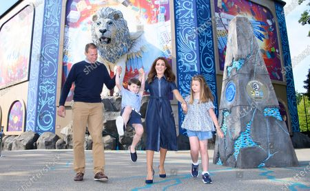 LEGO® MYTHICA receives the royal seal of approval as The Duke and Duchess of Cambridge's look-a-likes enjoy a mythical summer day out with Prince George and Princess Charlotte at the LEGOLAND® Windsor Resort.