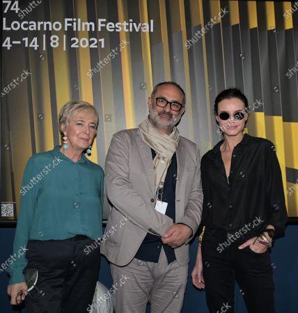 Kasia Smutniak, Piera Detassis president David di Donatello, Giona Nazzaro artistic director LFF