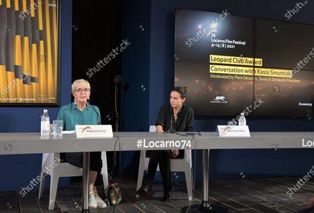 Stock Photo of Kasia Smutniak with Piera Detassis president David di Donatello