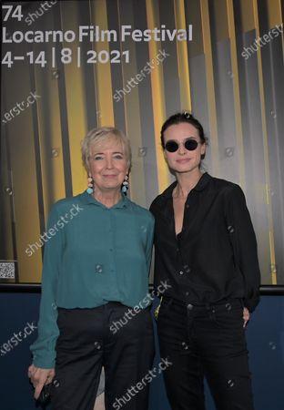 Stock Image of Kasia Smutniak with Piera Detassis president David di Donatello