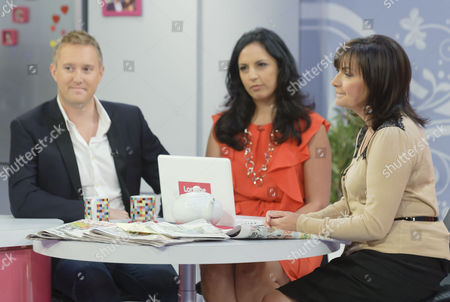 Stock Image of Dean Piper, Aasmar Mir and Lorraine Kelly