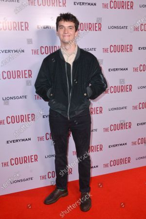 Fionn Whitehead attends Gala Screening of The Courier, at Everyman Broadgate, London