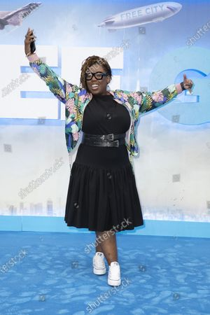 Chizzy Akudolu attends the UK Premiere of 20th Century Studios' Free Guy on August 09, 2021 in London, England.