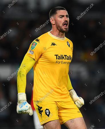 Tom King goalkeeper of Salford City