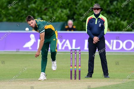 Tom Barber of Notts Outlaws during the Royal London 1 Day Cup match between Nottinghamshire County Cricket Club and Northamptonshire County Cricket Club at Grantham CC, Grantham