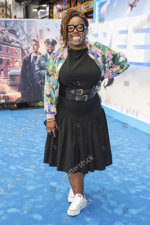 Stock Photo of Chizzy Akudolu poses for photographers upon arrival at the premiere for the film 'Free Guy' in London