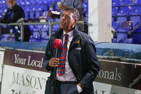 Chris Kamara during the EFL Cup match between Hartlepool United and Crewe Alexandra at Victoria Park, Hartlepool