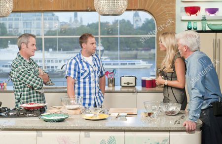 Phil Vickery, Tarrant Ablett with Phillip Schofield and Holly Willoughby