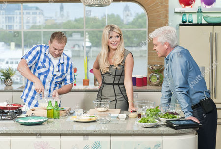 Tarrant Ablett with Phillip Schofield and Holly Willoughby