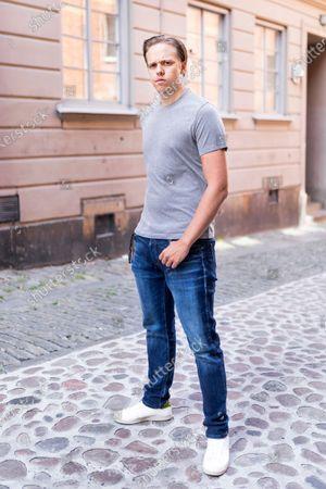 Stock Picture of Swedish actor Valter Skarsgard photographed in Stockholm, Sweden