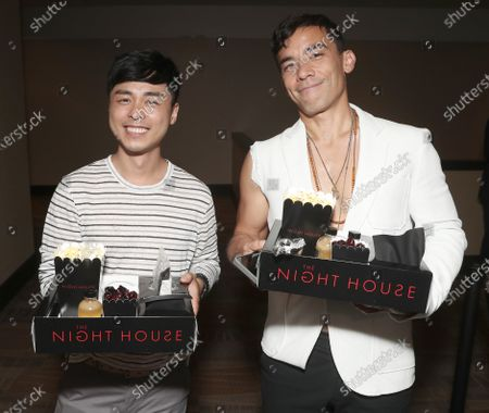 """Conrad Ricamora (right) and guest attend a Special Screening for Searchlight Pictures """"The Night House """" on Wed Aug 11, 2021 in New York."""