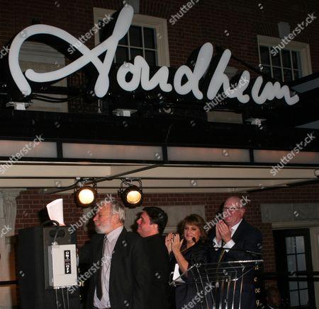 Stephen Sondheim, Nathan Lane, Patti Lupone and Tom Tuft