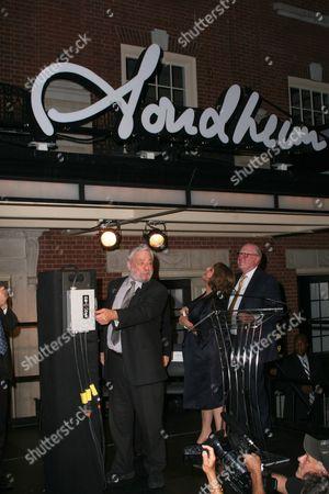 Stephen Sondheim, Patti Lupone and Tom Tuft