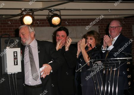 Editorial picture of Stephen Sondheim Theatre dedication and marquee lighting ceremony, New York, America - 15 Sep 2010
