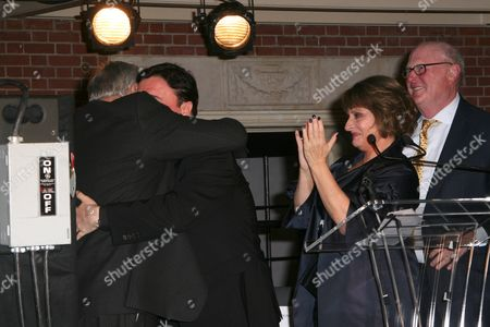 Stock Picture of Stephen Sondheim, Nathan Lane, Patti Lupone and Tom Tuft
