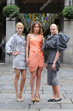 Editorial image of Finalists in John Galliano's Fashion Fringe, Covent Garden, London, Britain  - 16 Sep 2010