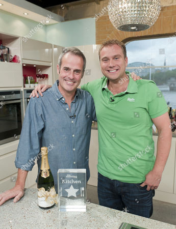 Phil Vickery with the Winner of Kitchen Stars was Tarrant Ablett