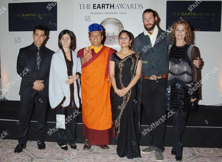 Aamir Khan, Nicole Ting-Yap, The Gyalwang Drukpa, Kiran Rao, David de Rothschild and Karena Albers