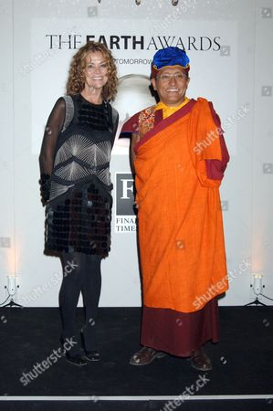 Stock Image of Karena Albers with the Gyalwang Drukpa
