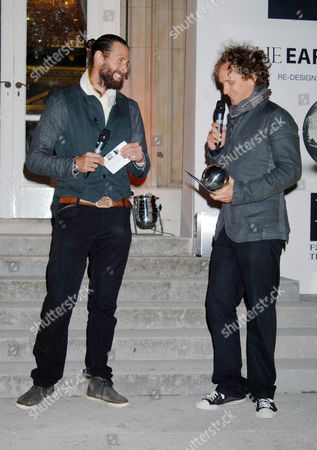 David de Rothschild and Yves Behar, presenting one of the awards.