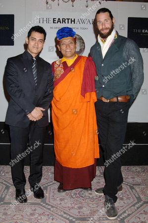 Aamir Khan, The Gyalwang Drukpa and David de Rothschild
