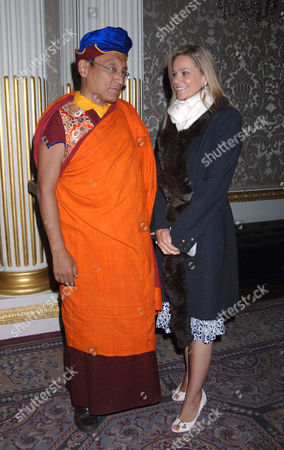 Stock Picture of Marie Guerlian with the Gyalwang Drukpa