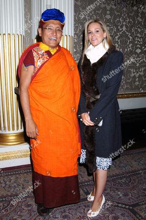 Marie Guerlian with the Gyalwang Drukpa