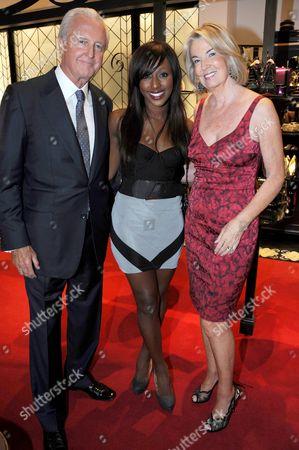 Alexandra Burke with Galen Weston and wife Hilary Weston