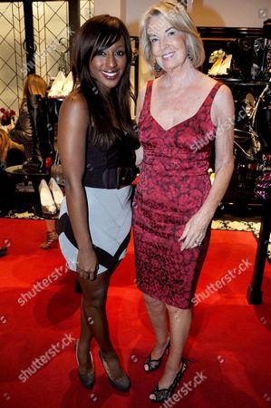 Alexandra Burke with Hilary Weston