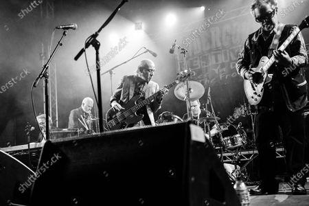The Blockheads - (R-L) John Turnball (guitar), John Roberts (drums), Norman Watt-Roy (Bass), Mick Gallagher (organ), Chaz Jankel (keyboards).
