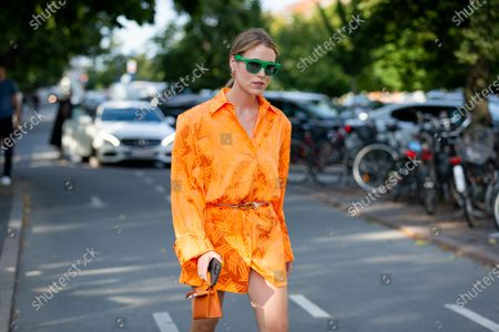 Editorial photo of Street Style, Spring Summer 2022, Copenhagen Fashion Week, Denmark - 11 Aug 2021