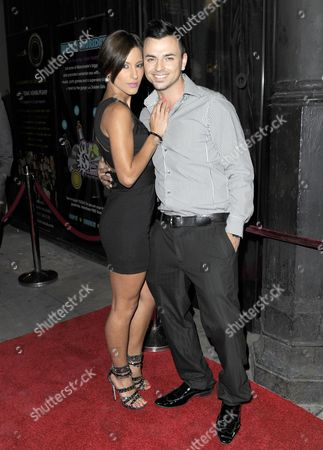 Stock Image of Andy Scott Lee and girlfriend Lydia