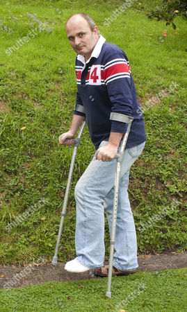 Editorial image of Major Charles Ingram at home where he cut off his toes whilst using a flymo in his garden, Wiltshire, Britain - 17 Sep 2010