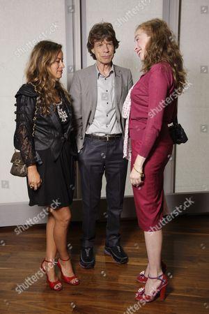 Jade Jagger and Mick Jagger