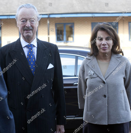The Duke of Marlborough and The Duchess of Marlborough visits the Marlborough School in Woodstock,Oxon during his visit to the Woodstock Literary Festival