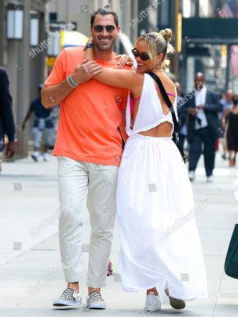 Editorial photo of Peta Murgatroyd and Maksim Chmerkovskiy at Fifth Avenue, Manhattan, New York, USA - 11 Aug 2021