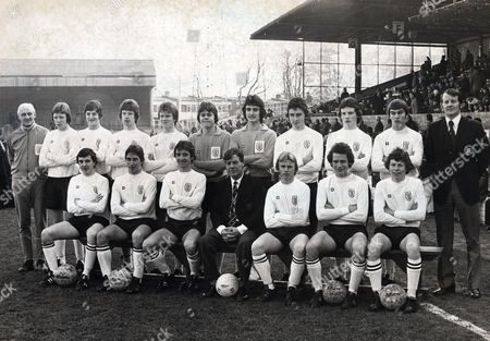Stock Picture of England Schoolboy Team Group 1976 Back Row (l-r) F Coleman (assistant Team Manager) Brendan Ormsby Wayne Clarke Craig Wardle Andy Ritchie Tony Armstrong Stephen Foyster Michael Fillery Stephen Jasper Martin Mcgrath J Morrow (manager) Front Row: Michael Barnes Gary Sisman Leslie Carter D Wright (schools Chairman) Paul Walker Philip Brignull Clive Allen