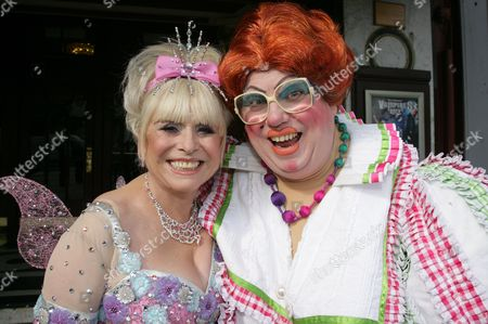 Barbara Windsor as 'Fairy Bowbells' and Eric Potts as 'Sarah The Cook'