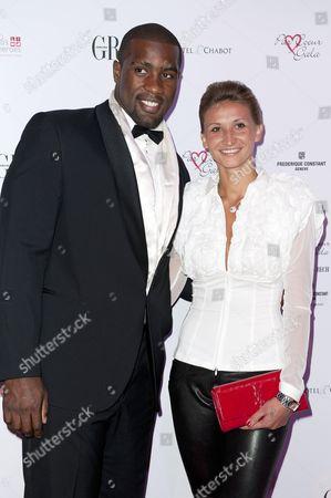 Teddy Riner and Tatiana Golovin