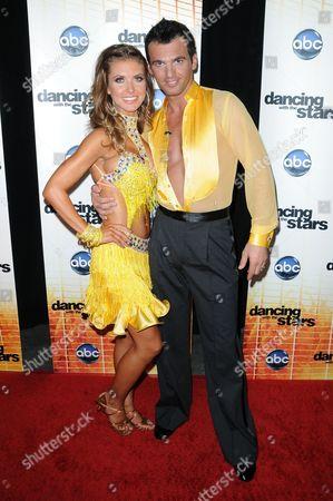 Stock Picture of Audrina Patridge and Driton Tony Dovolani
