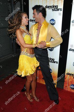 Stock Image of Audrina Patridge and Driton Tony Dovolani