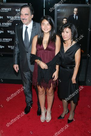 Oliver Stone with Tara Stone and Sun-Jung Jung