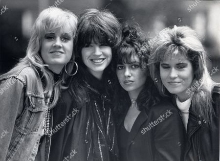 The Bangles. L-r: Debbie Peterson Michael Steele Susanna Hoffs Vicki Peterson