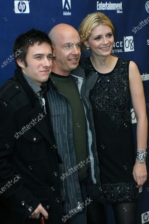 """Actor Reece Thompson, producer Bob Yari, and actress Mischa Barton (L to R) attend the premiere of their film """"Assassination of a High School President"""" at the Eccles Theater during the Sundance Film Festival in Park City, Utah on January 23, 2008."""